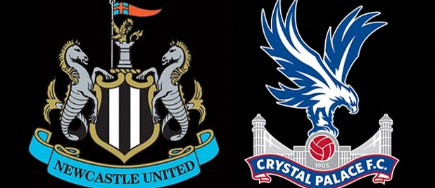 Newcastle United v Crystal Palace Crests Black Background